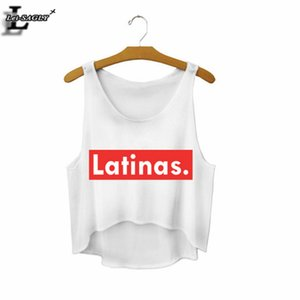 "Wholesale-2016 ""Latinas."" Summer Style Sexy Crop Top Cropped Fashion Mujer Fitness Women Comfortable Tank Tops Cheap Clothes China F671 on Sale"