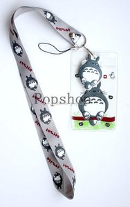 Wholesale Cartoon Anime High Quality Anime My Neighbor Totoro Lanyard ID badge holder key neck strap for Kids Student