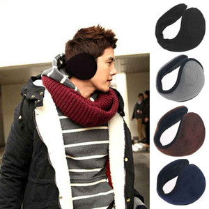 Winter Ear Warmers Earmuffs Ear muffs Behind the Ear Style Women Men Unisex Warm Winter Plush Earmuffs Black on Sale