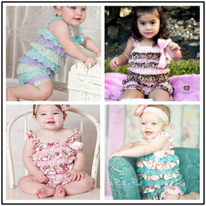 20colors Girl Petti Ruffle romper NO headband Baby Lace Romper Birthday gift Outfit Aqua purple yellow baby girls jumpsuits lovely cloth