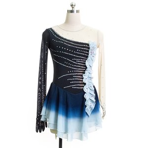 Fashionable Style Good Quality Competition Dress Skating Full Sleeves Young Girls Beaded Designer Dress On Ice
