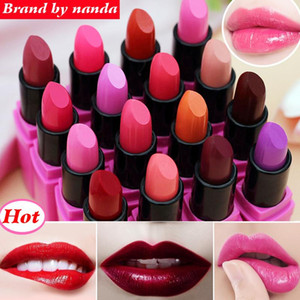 Wholesale lipstick mc resale online - High Quality Matte Lipstick Brand BY Moisturizer Long Lasting Waterproof Nude MC Lip Stick Lip Balm Makup Brand