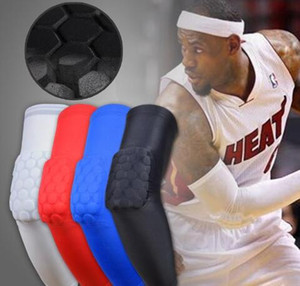 2017 Brand Sport safety basketball Arm pads Antislip honeycomb pad elbow Guard support calf compression arm sleeves Sport Protector Elbow