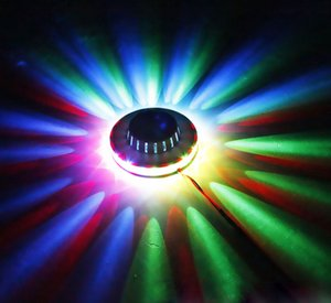 LED Stage Lighting RGB LED Effects Sunflower LED Stage Light Magic 7 color Rotating Lights For Home Party Wedding Birthday Celebration Event