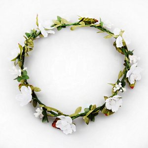 Wholesale Decorative Flowers Wreaths Bride Bohemian Flower Headband Wedding Floral Garland Hair Band Headwear Hair Artificial Decoration Woman