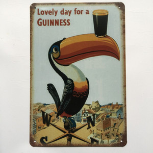 Wholesale man cave garage decor resale online - Lovely Day for a Guinness Retro Vintage Metal Tin sign poster for Man Cave Garage shabby chic wall sticker Cafe Bar home decor