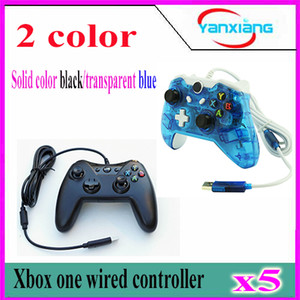 Wholesale microsoft games resale online - 5pcs Black Game Controller For Microsoft Xbox One Wired Controller Dual Vibration Joystick Gamepad For Xbox One YX one