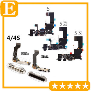 Wholesale for iPhone s G s c Plus USB Dock Connector Charger Charging Port Flex Cable Headphone Audio Jack mic Ribbon