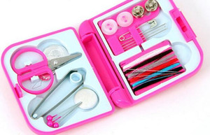 Portable Travel Sewing Kit Mini Plastic Multi Function Creative Family Necessity Tool Case Scissors Tape Pins Thread Threader Set 2 75sc J R on Sale