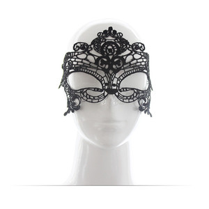 arty Mask Halloween Masks Black Floral Lace Mask Sexy Lady Cutout Female Eye Mask For Masquerade Fancy Party Dress Costume