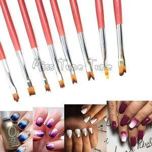 8PCS LOT Nail Art Drawing Brush UV Gel Painting Liner 3D Drawing Gradient French Nail Brushes Pen Gradient Soft Hair