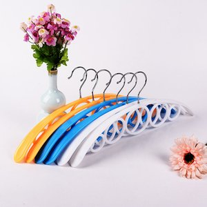 Wholesale Plastic Clothes Rack Multi Function No Trace Adult Hanger Thickened Eco Friendly Silk Scarf Hangers Factory Direct Sale zk B