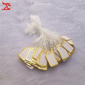 Wholesale Jewellery Shop Tool Jewelry Display pieces Small Tie on PRICE TAG Gold Label Price Label for Jewelry Sales