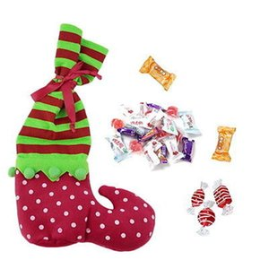 Wholesale Christmas Stockings Santa Sacks Christmas Santa Elf Candy Bags Party Home Decor Gifts Present Filler S2 Personalized Christmas Stockings