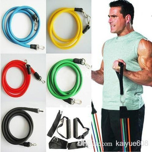 Wholesale Promotion High Quality Set Latex ABS Tube Workout Resistance Bands Exercise Gym Yoga Fitness Sets Outdoor Sports Supplies