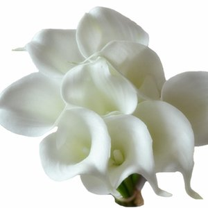 Wholesale DES FLORAL Decorative flower artificial White Mini Calla Lily Bundle for wedding decoration