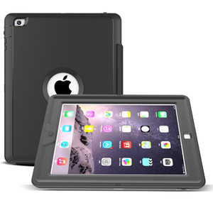 Wholesale 3 in Hybrid Flip Folding Stand Case Heavy Duty Shockproof Smart Cover With Front Screen For iPad Mini air Pro