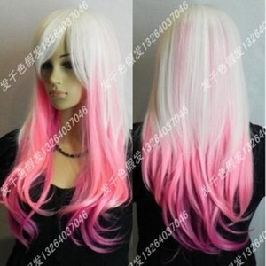 100%Heat Resistant Cosplay Fashion Hair Wig Long Cosplay Hair Fashion >>Harajuku Department fashion gradual change Cosplay Wig