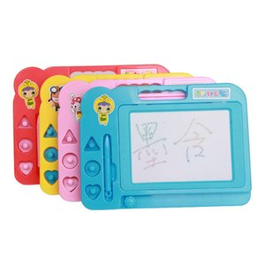 Wholesale Educational Kids Toys Doodle Sketch Learning Toy Erasable Colorful Plastic Magnetic Drawing Board Color model OPP Bag Christmas gift Gifts