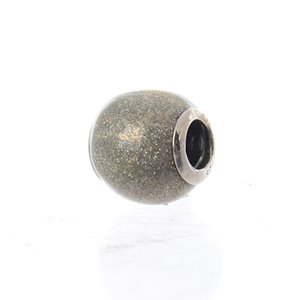 Wholesale glitter ball bracelets for sale - Group buy Authentic Sterling Silver Jewelry Glitter Ball Charm Silvery Glitter Enamel Original Fashion Charms Beads Fits DIY Bracelets Jewelry