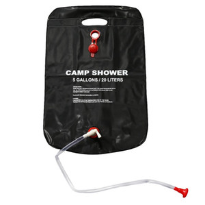 Wholesale solar energy camping for sale - Group buy New L Gallons Solar Energy Heated Camp Shower Bag Outdoor Camping Hiking Utility Water Storage PVC Black Shower Water Bag SC052