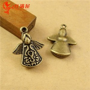 A2420 20*16MM Antique Bronze Angel charm pendant beads mobile phone accessories retro jewelry wholesale shop, cute old ancient charms