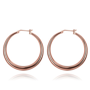 Wholesale Creole Big Hoop Earrings K Gold Plated Rose Gold Jewelry for Women Fashion Sexy Party Jewelry Top Quality Factory Price
