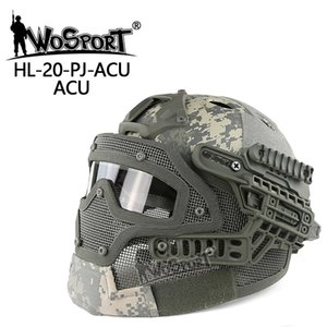 Wholesale New Tactical Helmet BJ MH PJ ABS Mask with Goggle for Airsoft Paintball Army WarGame Motorcycle Cycling Hunting