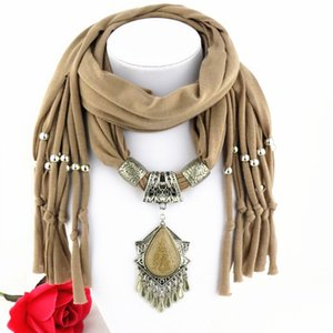 Wholesale Latest Cheap Fashion Ladies Scarf Direct Factory dangle Pendant Jewelry Scarves Women Bohemian Tassel Scarves From China Factory