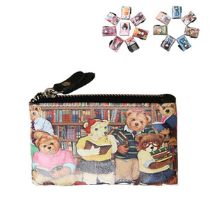 Cartoon Cute Coin Wallets holders Ladies Girls boys Cow Genuine Leather Zipper wallets and Credit card holders packet Purses top fashion on Sale