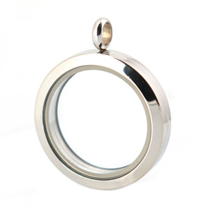 Wholesale stainless steel magnet glass locket for sale - Group buy 30mm magnet plain stainless steel Memory living glass locket pendant glass locket floating charms for floating charms