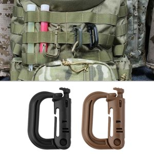 Wholesale 1pcs D Shape Climbing Carabiner Screw Lock Bottle Hook Buckle Hanging Padlock Keychain Camping Hiking Snap Clip High Quality