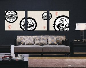 Wholesale Ancient Chinese Dragon Abstract Painting Giclee Print On Canvas Wall Art Home Decoration Set30212