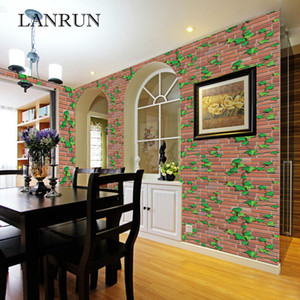 Wholesale 60Cm M Self Adhesive Wallpaper Pvc Pattern Stone Wallpapers Brick Wall Paper Decorative Wall Stickers Bedroom Home Decor