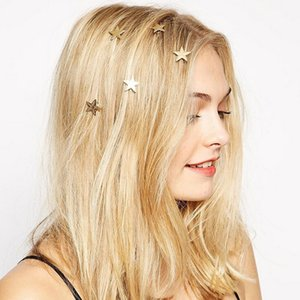 Wholesale Fashion Bling Golden Hair Clip hair clip accessories Headband gold barrette hair pins gift girls