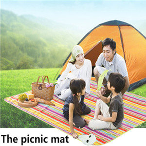 Wholesale family mat resale online - 2016 color Oxford cloth Waterproof Picnic Mat Rug Blanket Moistureproof Outdoor Camping Beach Travel BBQ
