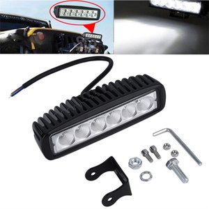 Wholesale 6 quot inch W LED Work Light Bar Lamp for Driving Truck Trailer Motorcycle SUV ATV OffRoad Car v v Flood Spot