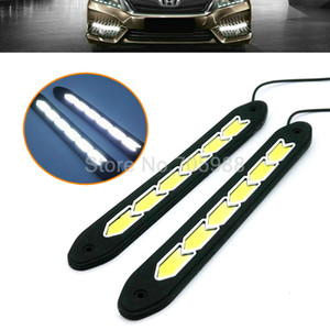 Wholesale 2 COB Car LED Daytime Running Light DRL Daylight Turn Lights Lamp with day day time running lights Lamps