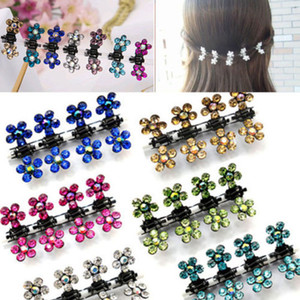 Wholesale Susan PC Crystal Flower Mini Claw Clamp Hair Clip Hair Pin NEW Barrette Hair Accessories for Baby Girl Lady