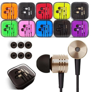 Wholesale Earphone mm Metal For Xiaomi piston Headphone Universal Noise Cancelling In Ear Headset For Samsung Smart android phone