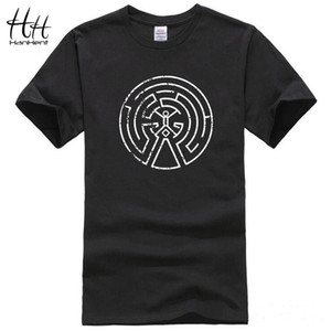 Wholesale HanHent Westworld Maze Men Cotton T Shirts New Arrival Short Sleeve O neck West World Dolores Male Casual T shirt Top Tees