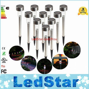 New LED Solar Lights Led Lawn Light Stainless Garden Outdoor Sun Light Corridor Lamp Outdoor Garden Lamp Solar Powered Colored Solar Lamps