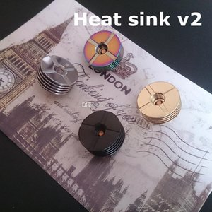 Wholesale 510 heat sink resale online - Heatsink stainless steel gold black rainbow colors update Heat sink with vent hole heat dissipation adapter connector for vape DHL