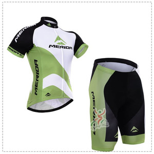 Wholesale 2015 MERIDA WHITE GREEN SHORT SLEEVE CYCLING JERSEY SUMMER CYCLING WEAR ROPA CICLISMO SHORTS D GEL PAD SET SIZE XS XL