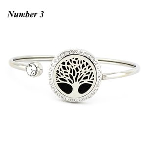 25mm Crystal Cuff butterfly flower Stainless Steel Essential Oil Diffusing Perfume Locket Can Open Locket Bangles