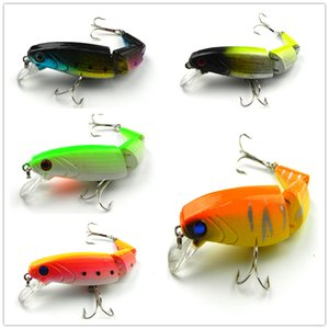 Wholesale fishing lures resale online - new Minow lure plastic sections Jointed Hard Bait gear Fishing freshwater lures tackle10 CM G hooK isca artificial