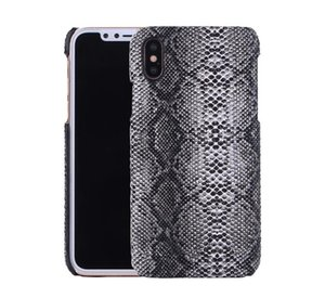 Wholesale PU Leather Carbon Fiber Snake Wooden Braid Pattern Case for iPhone X S Plus PC Full Protective Cover OPP Aicoo