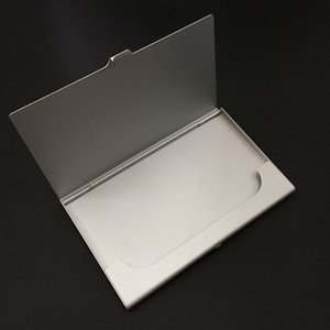 Wholesale 2017 Fashion Pocket Business Name Credit ID Card Holder Box Metal Box Case