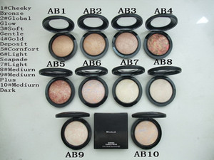Free shipping !1PCS NEW Makeup Mineralize Skinfinish Powdre De Finition Face Powder 10g,10 color choose