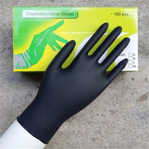 Wholesale 100Pcs Pairs Disposable Tattoo Latex Black Gloves S M L Size For Tattoo Gun Needles Ink Tips Grips Kits